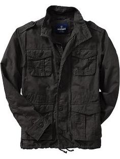 Men's Linen-Blend Military Jackets | Old Navy