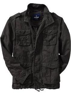Men s Linen-Blend Military Jackets  71afad2e7e3