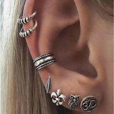 Mism punk stud earrings clip pendientes brinco bijoux leaf ear cuff clip on jewelry unisex oorbellen kolczyki Punk Earrings, Vintage Earrings, Clip On Earrings, Fashion Earrings, Stud Earrings, Anchor Earrings, Vintage Jewelry, Gothic Earrings, Fashion Jewelry