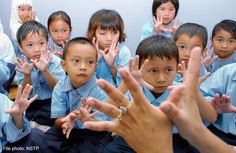 Rise in HFMD in Malaysia expected this year Kindergarten students being taught how to recognise the symptoms of hand, foot, and mouth disease.