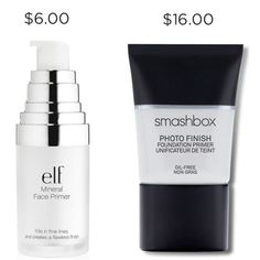 'Elf's Mineral Infused Face Primer in Clear ($6 for .47 oz) is a great dupe for Smashbox's Photofinish Foundation Primer ($36 for 1 oz. $16 for .5 oz).' Christine Lorraine Edmond Facebook