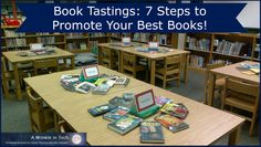 Lesson - Book Tastings: 7 Steps to Promote Your Best Books! Library Games, Library Events, Library Skills, Library Activities, Library Lessons, Library Books, Library Girl, School Library Displays, Middle School Libraries