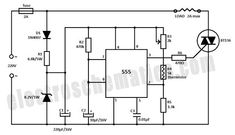 Temperature Controller Circuit Schematic, temperature controller circuit with the 555 IC together with a thermistor resistor divider Electronic Circuit Projects, Electrical Projects, Electronic Engineering, Electrical Engineering, Electrical Wiring, Electronic Art, Ac Circuit, Circuit Diagram, Electronics Basics