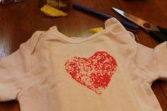 heart sponge onesie