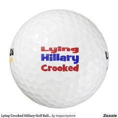 Lying Crooked Hillary Golf Balls,red&blue Golf Balls