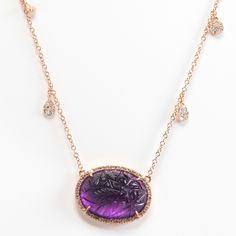 Rina Limor carved amethyst necklace
