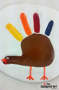 How to make a Thanksgiving Turkey Handprint Keepsake from Salt Dough