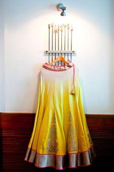 Yellow lehenga love. JADE