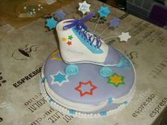 Rollschuh Torte , Rollerskate Cake