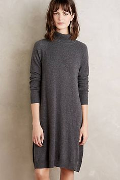 Cashmere Turtleneck Swing Dress