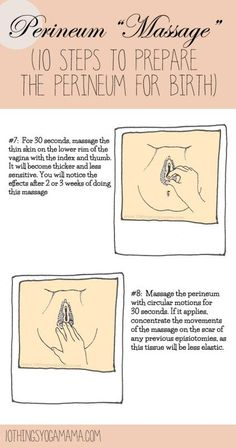 "Generally speaking, these are not what are usually referred to as fun to do (!), but these exercises, along with Kegels, can prove to be an essential part in preparing the perineum for birth. Perineum ""Massage"" (10 Steps to Prepare the Perineum for Birth)"