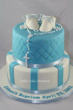 Baptism Cake - by CarlasCakeCreations @ CakesDecor.com - cake decorating website