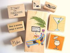 Set of Rubber Stamps Domestically Challenged!1  http://www.etsy.com/shop/IguanaMakeIt