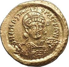 ANASTASIUS I 491AD NGC Certified MS Ancient Byzantine Solidus GOLD Coin i53476