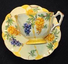 Grapes tea cup and saucer