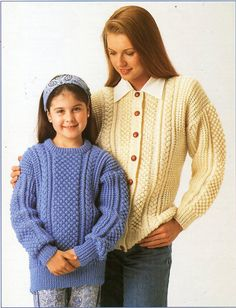 u8196 womens childrens aran sweater cardigan knitting pattern PDF ladies cable jumper jacket 24-44 inch aran worsted 10ply Instant Download All patterns are in English. Please refer to the pictures above for information from pattern on sizes, materials used, needle size etc. Click on the white arrow half way up the picture on the right side. Where a discontinued yarn is used, I check the needle size for a modern equivalent and include in the description. This is meant as a guide only…