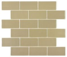 Soho 2x8 Subway Glass Tile BOX - contemporary - Wall And Floor Tile - Design For Less