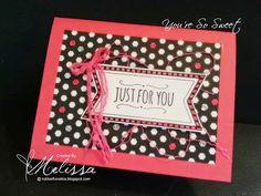 Stampin' Up! You're So Sweet by Melissa Davies @rubberfunatics  #stampinup #rubberfunatics