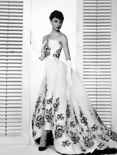 """Audrey Hepburn. """"Sabrina Fair"""" 1954, """"Sabrina"""" Directed by Billy Wilder. Custome by Edith Head Photographic Print at AllPosters.com"""