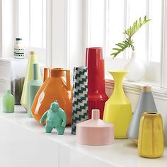 Affordable Home Buys That Even Decorators LOVE #refinery29 http://www.refinery29.com/how-to-buy-cheap-home-decor#slide-6 There can never be too many rainbow-colored ceramics.