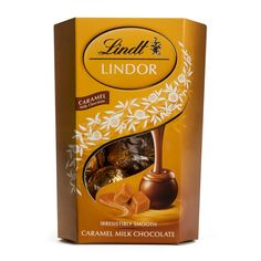 Lindt Lindor Caramel Milk Chocolate 200g Lindt Lindor, To Spoil, Caramel, Milk, Chocolate, Coffee, Mothers, Gifts, Food