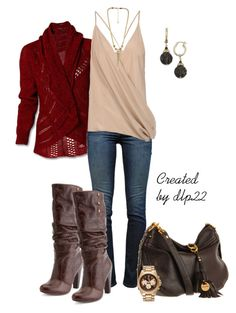 Maroon and Beige by dlp22 on Polyvore featuring Haider Ackermann, J Brand, Charlotte Russe, Juicy Couture and Belle Noel by Kim Kardashian