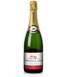A Personalised bottle of Brut Champagne. Ideal for the Ruby Wedding Anniversary. 30th Wedding Anniversary, Golden Wedding Anniversary, Anniversary Ideas, Champagne Label, Champagne Bottles, Wedding Champagne, Christmas Gifts For Couples, Best Shopping Sites, Presents For Men