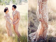 amazing couture dress with beautiful lace detailing <3 <3