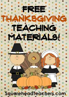 Squarehead Teachers: Free Thanksgiving worksheets & activities for your classroom!