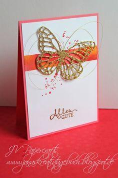 JV Papercrafts: sommerliche Karte mit den Schmetterling-Thinlits von Stampin Up