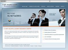 Website design for CDot Alcatel. View online at http://www.niyati.sg/web-design/142/technology-website