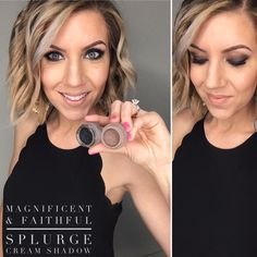 Younique makeup look.  Magnificent & Faithful cream eye Shadow.   also used faithful as contour color and magnificent as liner, even in waterline! The staying power is something else