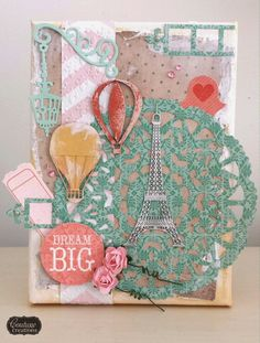 Couture Creations: Dream Big Canvas by Amanda Baldwin | #couturecreationsaus #canvas #embossingfolders #decorativedies #ornamentallacedies #doilydies #offthepage