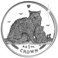 Isle of Man 2015 - Selkirk Rex Cat - Proof Fine 999. Silver Coin
