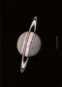 Saturn, Larousse Encyclopaedia of Astronomy, Lucien Rudaux & Gerard DeVaucouleurs, 1962.