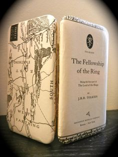 Lord of The Rings Book Page Wallet with Map of the Shire and Title Page by TheNerdBoutique on Etsy, $30.00  Great holiday gift idea for ladies who love Lord of the Rings.