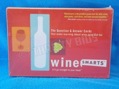 Wine Smarts Question & Answer Cards Adult Game Vol 1 Learn about Wine New Sealed in Toys & Hobbies, Games, Board & Traditional Games, Contemporary Manufacture | eBay