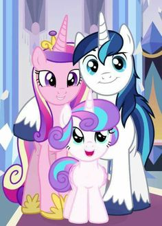 Princess Mi Amore Cadenza (or Princess Cadence), Prince Shining Armor and Princess Flurry Heart. Cadence and Shining vector by Flurry Heart vector by Ba. The Crystal Royal Family Festa Do My Little Pony, My Little Pony Princess, Mlp My Little Pony, My Little Pony Friendship, Rainbow Dash, Flurry Heart, My Little Pony Wallpaper, Desenhos Love, Imagenes My Little Pony