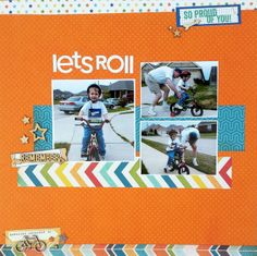 3 photo 1 page  All about a Boy, Elle's Studio Cameron cut apart ...Searchsku: Let's Roll *Sketch N Scrap #50*