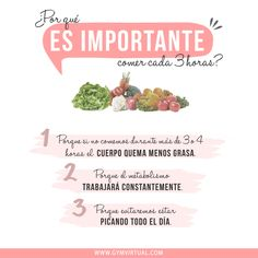 La importancia de comer cada tres horas - LEE CÓMO CONTROLAR LA ANSIEDAD AL COMER http://nutricionysaludyg.com/nutricion/como-controlar-la-ansiedad-al-comer/