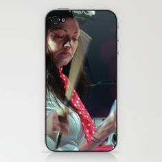 Meg White DrumStix iPhone & iPod Skin by Christopher Chouinard - $15.00