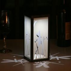 Frosted Dragonfly Square Solar Lantern