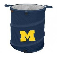 Michigan Wolverines Collapsible Trash Can (Doubles as Cooler and Laundry Hamper)