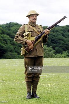 1st World War historical re enactment, British Army, private soldier, uniform, 1914