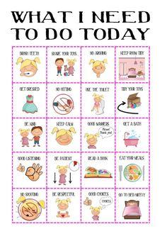 Girls Behaviour chart SALE routine chart by OliHarriCreations