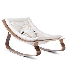Transat Bébé LEVO en Noyer avec assise Gentle White