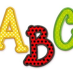 BX font included! Happy Applique Alphabet Font Machine Embroidery Design 4 sizes Uppercase letters, Small letters and Numbers AL019