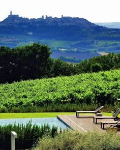 Views of charming Todi from wine hotel in Umbria