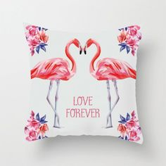 Flamingo Decor, Pink Flamingos, Cushion Covers, Pillow Covers, Motif Tropical, Pink Throws, Decorative Cushions, Jpg, Print Patterns