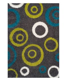 Look what I found on #zulily! Graphite & Lime Centric Rug #zulilyfinds